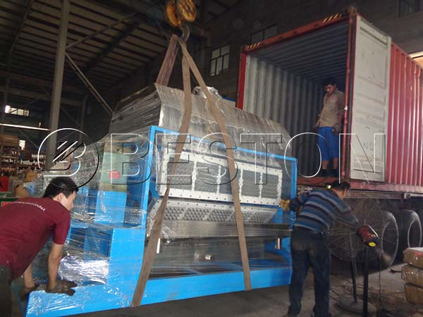 Egg Tray Making Machine Shipping to Dominica